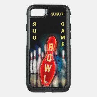 Capa iPhone 8/7 Commuter OtterBox Jogo 300, sinal de néon da boliche com bola e