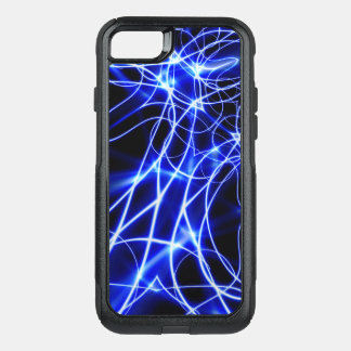Capa iPhone 8/7 Commuter OtterBox Linhas azuis da energia, flash do azul da fantasia