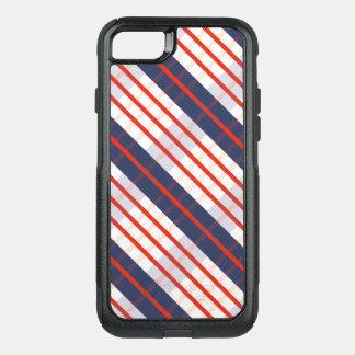 Capa iPhone 8/7 Commuter OtterBox Listra azul profunda vermelha