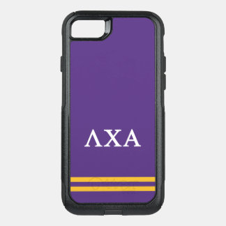 Capa iPhone 8/7 Commuter OtterBox Listra do esporte do alfa | do qui do Lambda