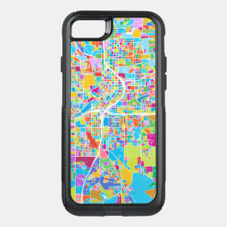 Capa iPhone 8/7 Commuter OtterBox Mapa colorido de Atlanta