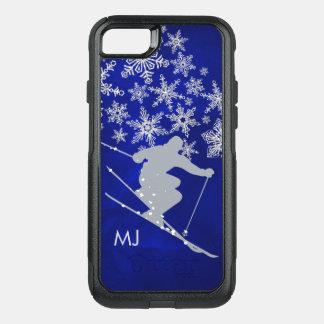 Capa iPhone 8/7 Commuter OtterBox Monograma em declive do azul do esqui da neve
