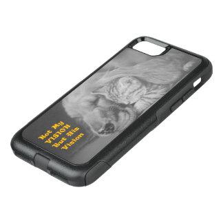 Capa iPhone 8/7 Commuter OtterBox Não minha visão mas seus gato e cão amigáveis da