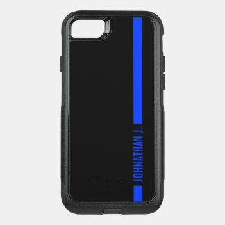 Capa iPhone 8/7 Commuter OtterBox Nome personalizado de Blue Line recruta fino