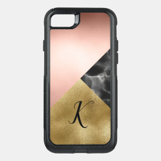 Capa iPhone 8/7 Commuter OtterBox O mármore chique e a folha olham o caso do iPhone