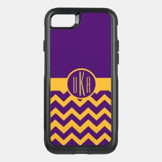 Capa iPhone 8/7 Commuter OtterBox Ouro customizável e monograma roxo