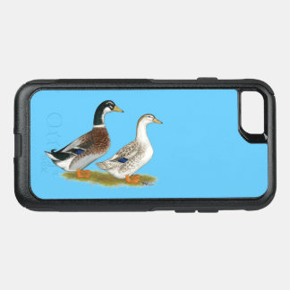Capa iPhone 8/7 Commuter OtterBox Patos:  Appleyard de prata