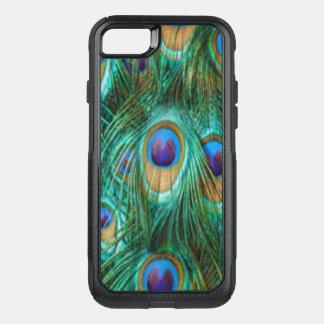 Capa iPhone 8/7 Commuter OtterBox Penas do pavão do verde azul