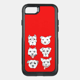 Capa iPhone 8/7 Commuter OtterBox Pittie Pittie por favor!