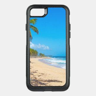 Capa iPhone 8/7 Commuter OtterBox Praia de relaxamento com palmeiras & ondas de