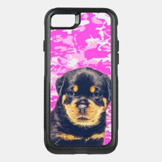 Capa iPhone 8/7 Commuter OtterBox Rottweiler com Camo cor-de-rosa