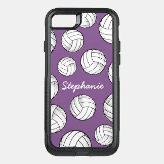 Capa iPhone 8/7 Commuter OtterBox Roxo conhecido feito sob encomenda do voleibol