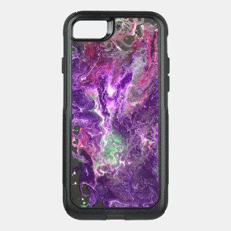 Capa iPhone 8/7 Commuter OtterBox Roxo sangrado - o acrílico derrama trabalhos de