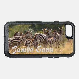 Capa iPhone 8/7 Commuter OtterBox Safari animal da migração do cruzamento de zebra