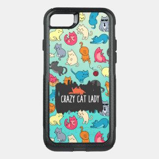 Capa iPhone 8/7 Commuter OtterBox Senhora louca Bonito e teste padrão brincalhão do