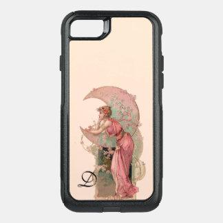 CAPA iPhone 8/7 COMMUTER OtterBox SENHORA LUA DE TAROTS/, FLORES NO MONOGRAMA