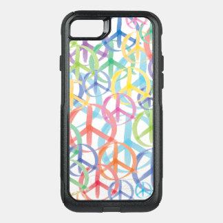 Capa iPhone 8/7 Commuter OtterBox Sinais de paz delicados da cor
