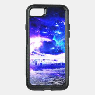 Capa iPhone 8/7 Commuter OtterBox Sonhos Amethyst de Budapest da safira de Amorem