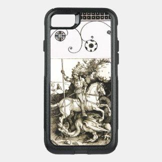 Capa iPhone 8/7 Commuter OtterBox ST GEORGE E DRAGÃO, branco preto