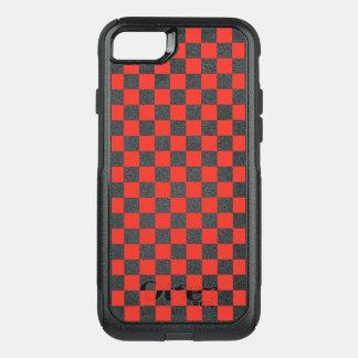 Capa iPhone 8/7 Commuter OtterBox Tabuleiro de damas vermelho