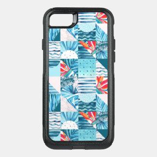 Capa iPhone 8/7 Commuter OtterBox Teste padrão abstrato geométrico da cerceta