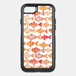 Capa iPhone 8/7 Commuter OtterBox Teste padrão alaranjado brilhante dos peixes da