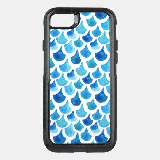 Capa iPhone 8/7 Commuter OtterBox Teste padrão azul da escala da aguarela