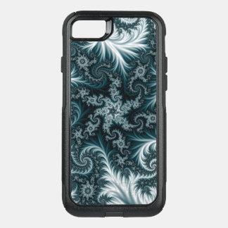 Capa iPhone 8/7 Commuter OtterBox Teste padrão ciano e branco do fractal