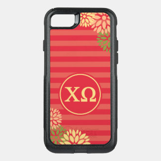 Capa iPhone 8/7 Commuter OtterBox Teste padrão da listra do monograma de Omega | do
