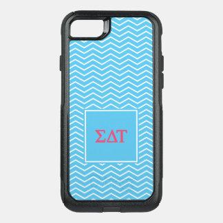Capa iPhone 8/7 Commuter OtterBox Teste padrão da tau | Chevron do delta do Sigma