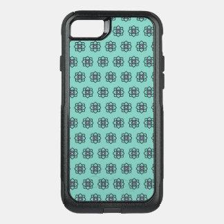 Capa iPhone 8/7 Commuter OtterBox Teste padrão de flores ciano verde