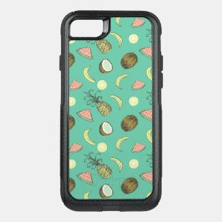 Capa iPhone 8/7 Commuter OtterBox Teste padrão do Doodle da fruta tropical