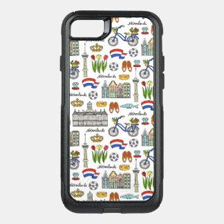 Capa iPhone 8/7 Commuter OtterBox Teste padrão do Doodle de Netherland