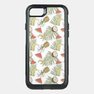 Capa iPhone 8/7 Commuter OtterBox Teste padrão do esboço da fruta tropical