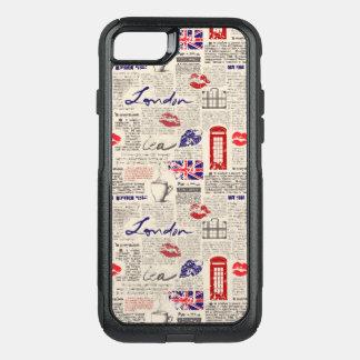 Capa iPhone 8/7 Commuter OtterBox Teste padrão do jornal de Londres