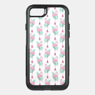 Capa iPhone 8/7 Commuter OtterBox Teste padrão do Pastel do flamingo & da melancia