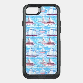 Capa iPhone 8/7 Commuter OtterBox Teste padrão dos navios de navigação da aguarela