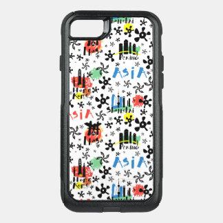 Capa iPhone 8/7 Commuter OtterBox Teste padrão dos símbolos de Ásia |