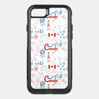 Capa iPhone 8/7 Commuter OtterBox Teste padrão dos símbolos de Canadá |