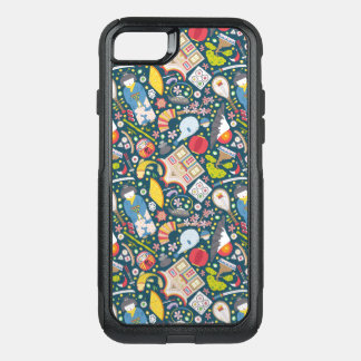 Capa iPhone 8/7 Commuter OtterBox Teste padrão sem emenda japonês