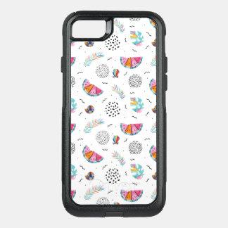 Capa iPhone 8/7 Commuter OtterBox Teste padrão tropical do verão do estilo de