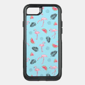 Capa iPhone 8/7 Commuter OtterBox Teste padrão tropical na moda do flamingo & da