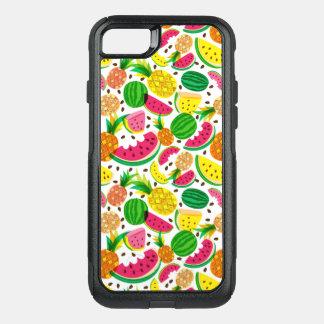 Capa iPhone 8/7 Commuter OtterBox Teste padrão vermelho & amarelo da fruta tropical