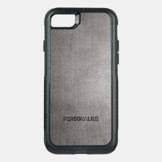 Capa iPhone 8/7 Commuter OtterBox Textura escovada do metal