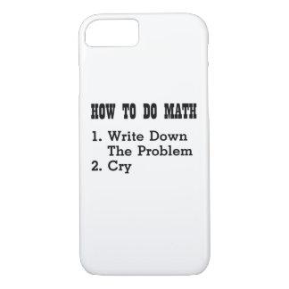 Capa iPhone 8/ 7 Como fazer camisetas engraçadas da matemática