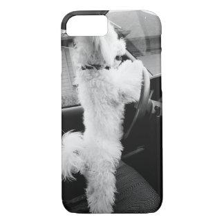 Capa iPhone 8/ 7 conduzindo o filhote de cachorro