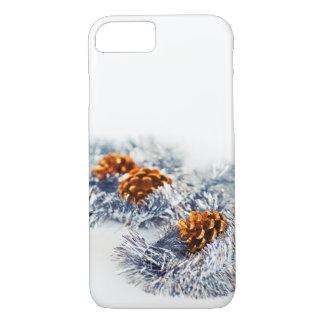 Capa iPhone 8/ 7 Cones Sparkling do pinho das decorações do Natal