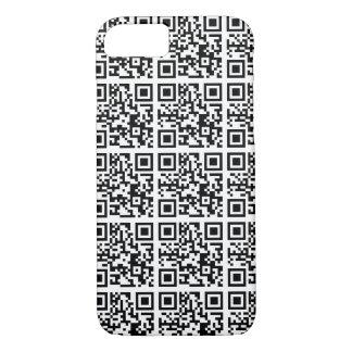Capa iPhone 8/ 7 Conservação legal do animal do código de QR