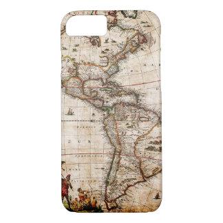 Capa iPhone 8/ 7 Continente do mapa velho de América