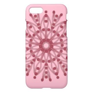 Capa iPhone 8/7 ~ cor-de-rosa frisado da flor da pétala